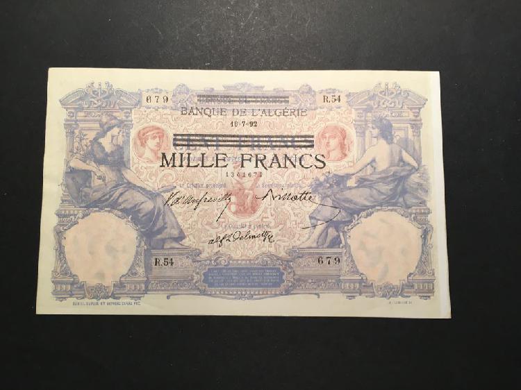 1000 francs banque de l'algérie occasion, angoulême