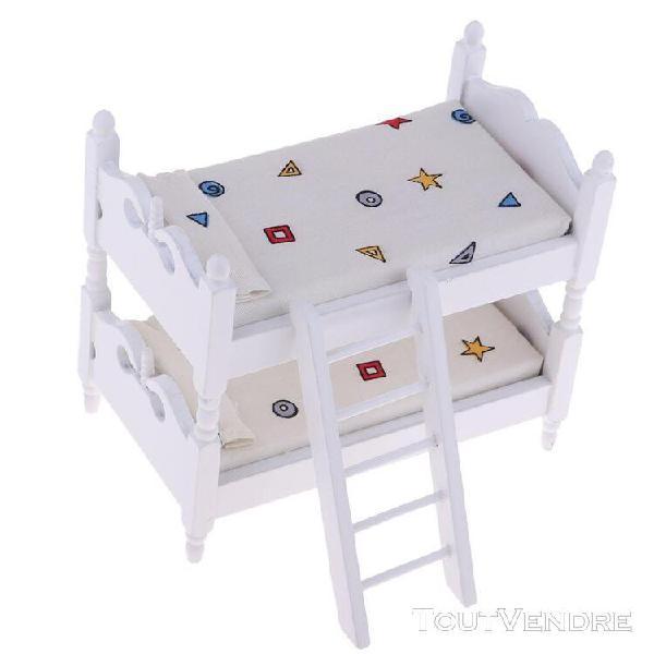 1/12 scale miniature lit superposé meubles de maison de