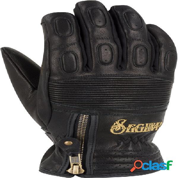 Segura lady sultana black edition, gants moto d'hiver, noir