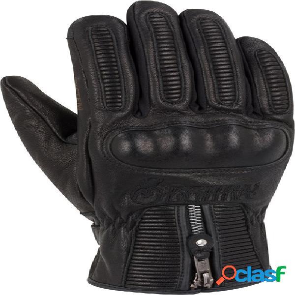 Segura sultan black edition, gants moto d'hiver, noir