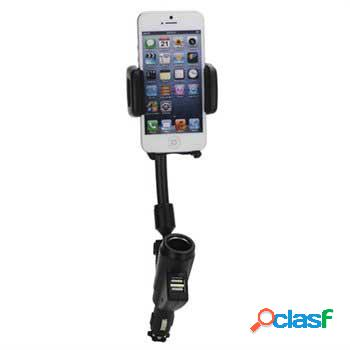 Chargeur voiture double usb / support universel