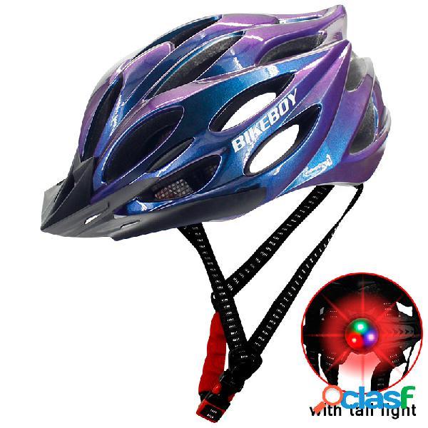 Casque de vélo équipement d'équitation casque avec feu arrière multicolore casque d'équitation pour hommes intégré-moule léger respirant hommes vélo de montagne