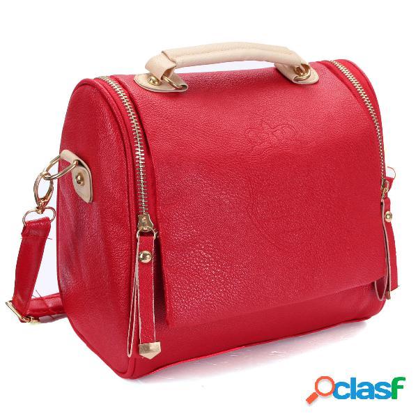 Sac d'épaule vintage rétro cuir pu sac bandoulière pour femme