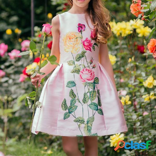 Robes de filles de fleur robe sans noeud noeud sans dossier pour les 4-13 ans