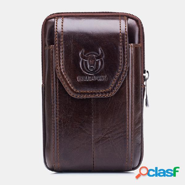 Sac de taille de sac de téléphone de tirette vintage en cuir véritable d'edc pour le sac d'affaires