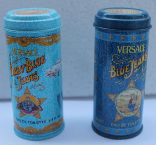 """Miniature versace """"blue jeans"""" dans sa boite acier décorée"""