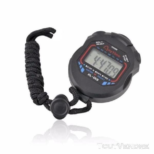 Digital professional handheld lcd chronograph sports chronom