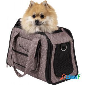 Sac de transport jack and vanilla bizou pour chats et chiens taupe