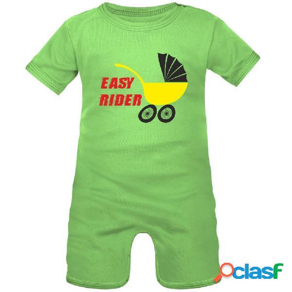 Barboteuse bébé rock: easy rider - vert 3-6 mois