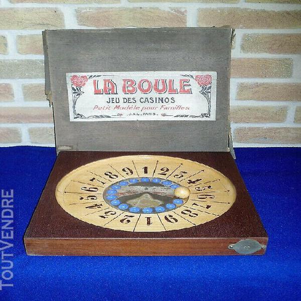 """Ancien jeu de casino de table """"la boule"""""""