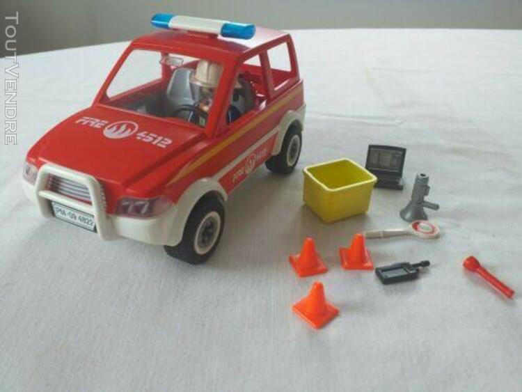 Playmobil ref 4822 la voiture du chef des pompiers
