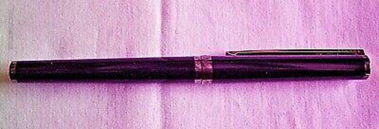 Stylo plume st dupont avec certificat - laque de chine bleu