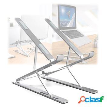 Support d'ordinateur portable multi-angle pliable universel n8 - 17.3 - argenté