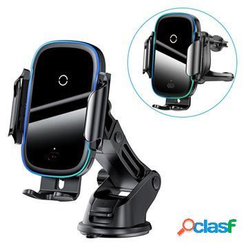Support / chargeur voiture sans fil 15w baseus light electric wxhw03-01