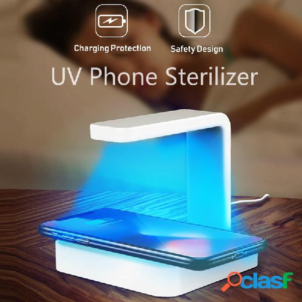 Téléphone portable uv stérilisateur de lampe portable chargeur sans fil intelligent stérilisation ultraviolette désinfecter