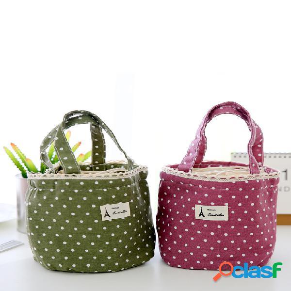 Sac à lunch porté main pliable sac tote sac de stockage