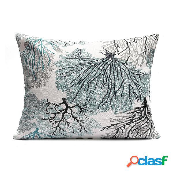 Housse de coussin élégante gracieuse en brocart taie d'oreiller décor de canapé à la maison 45x45 cm