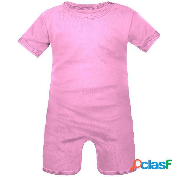 Barboteuse bébé à personnaliser - 0-1 mois rose
