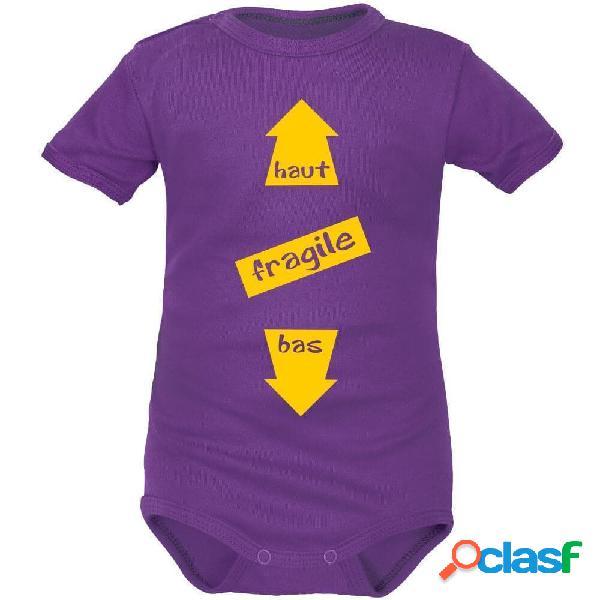 Body bébé humour: FRAGILE (8 couleurs) - Rouge Longues