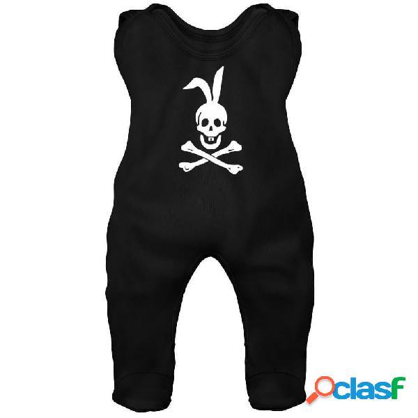 Grenouillère bébé originale: Joyeux Roger - Noir 2-3 mois