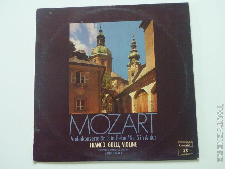 Disque vinyle mozart violinkonzerte concertos de violon fran