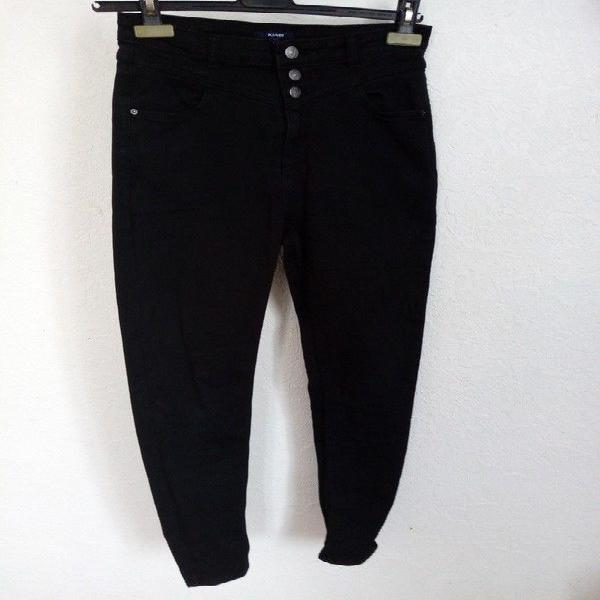 Jeans noir - taille 36 - kiabi - bouton + fermeture éclair