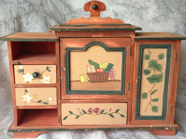 Ancien petit meuble poupée dînette armoire buffet jouet