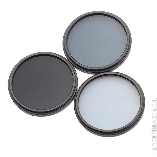Filtre à densité neutre nd filtres set -nd2 nd4 nd8 52mm /