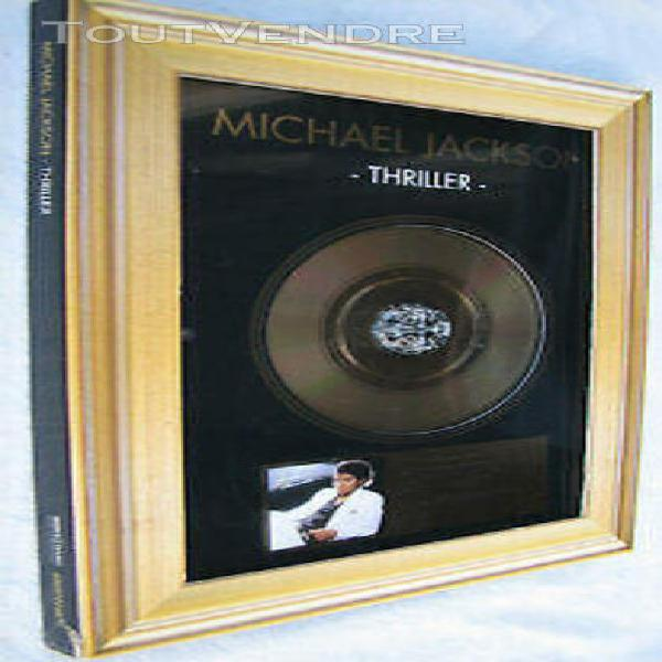 Michael jackson thriller cd album gold award french limited