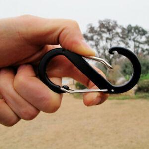 Mousqueton crochet clips porte-clés s-anneau en alliage