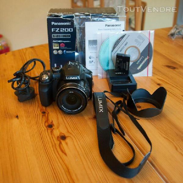 Panasonic lumix fz200 appareil photo bridge – noir