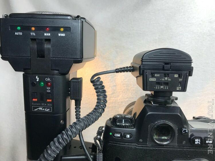 Adaptateur flash metz sca3401 pour boîtier nikon + system