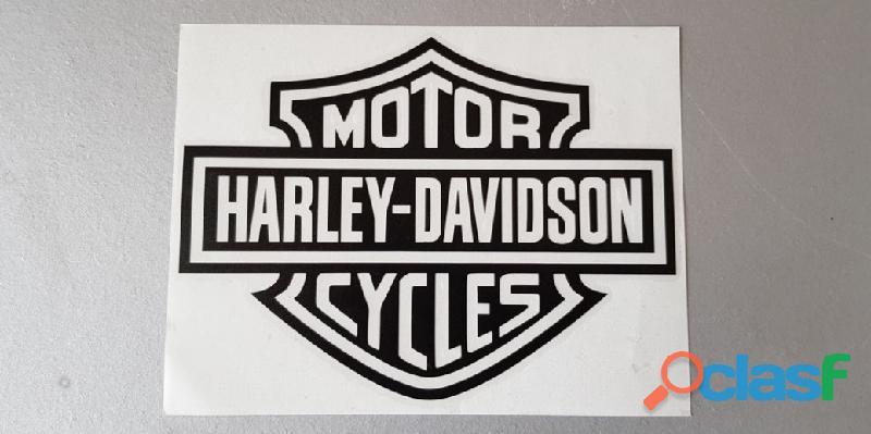 Autocollant bar and shield harley davidson 20x15 cm