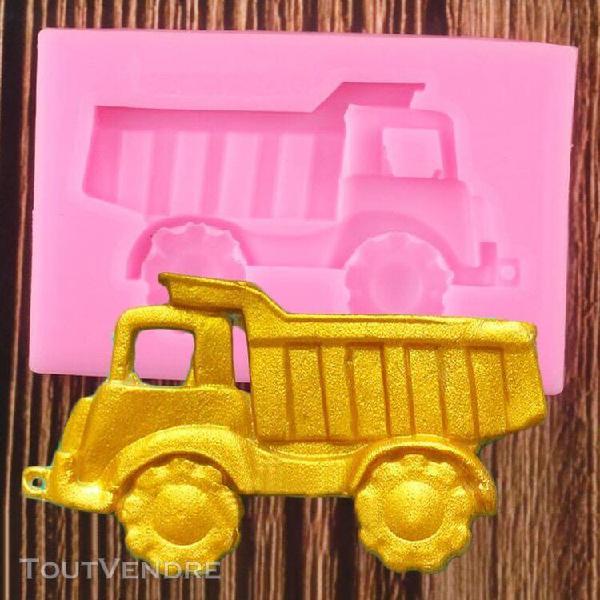 Moule de fondant silicone 3d camion outils de décoration de