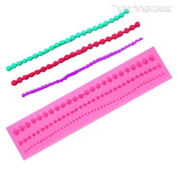 Perles en perles, moule en argile fondant, silicone de cuiss