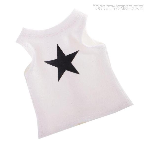 1/6 trendy white star débardeur imprimé pour 12 '' takara