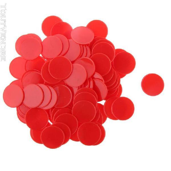 50/100 pièces en plastique de couleur vive jetons de poker