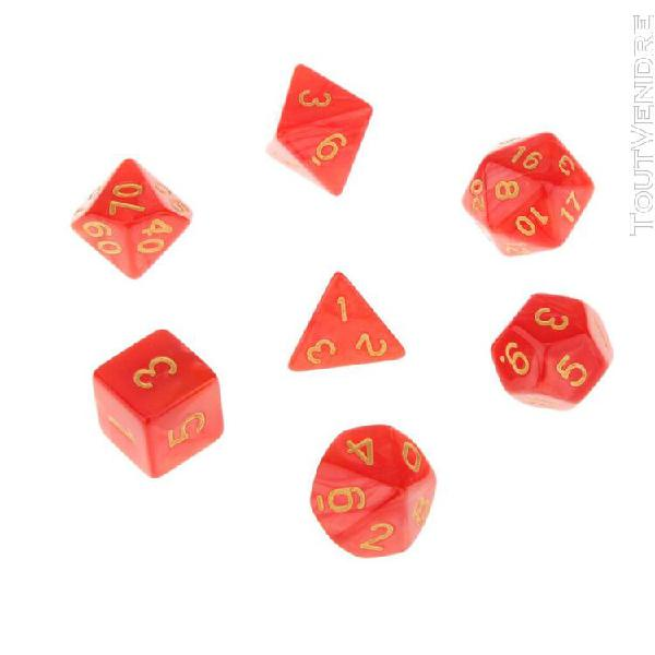 7 x polyedric dice 16mm pour dungeons et dragons dnd mtg tab