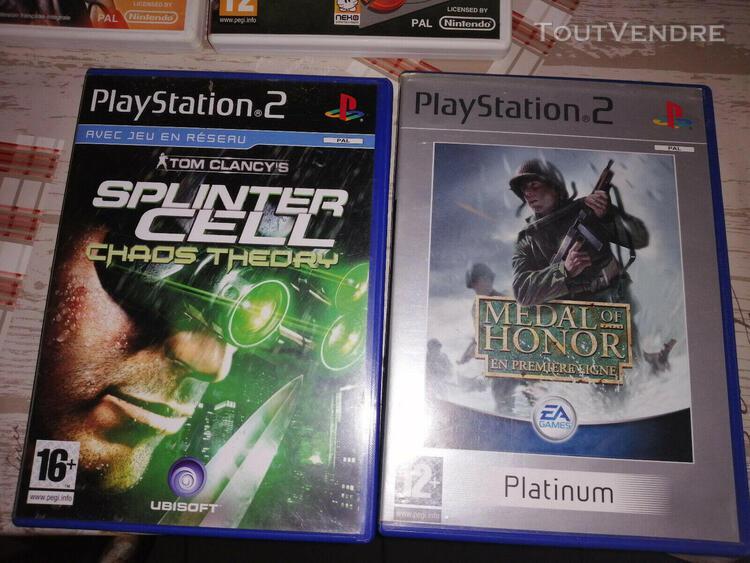 Lot de 2 jeux video ps2 medal of honor premiere ligne et spl