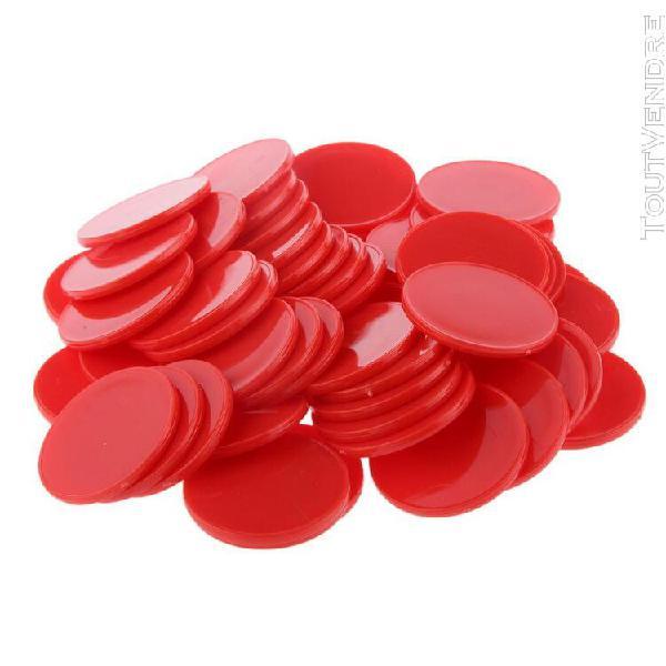 Pack de jetons de poker de casino en plastique compteurs de