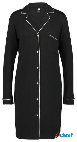 Hema chemise de nuit femme noir (noir)