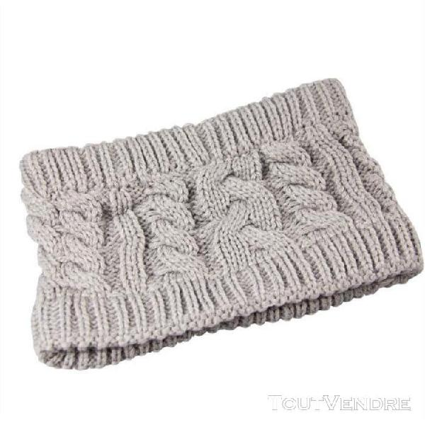 Femmes twist oreille fleur tricot bandeau mode d'hiver chaud