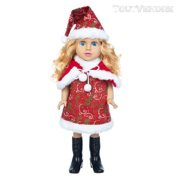 Noël blanc noir bébé jouet mignon cheveux bouclés 45 cm