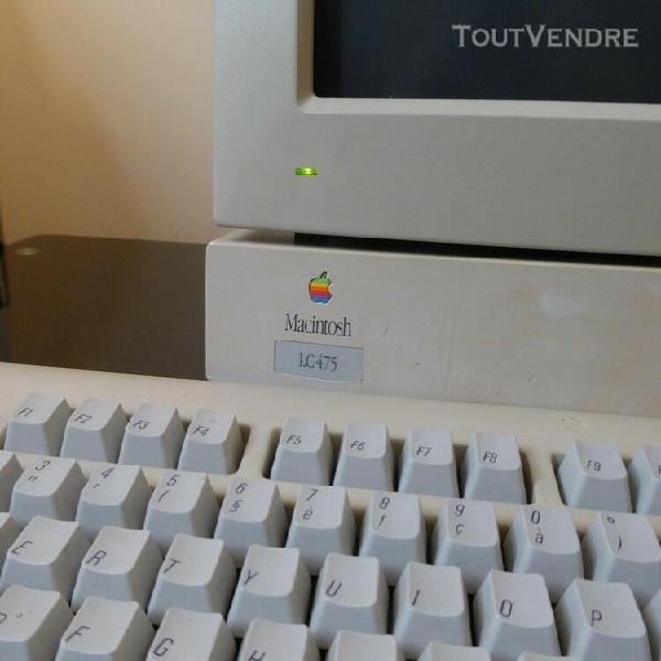 Apple macintosh lc475 os 8.1 français 69mo, 500mb hd scsi
