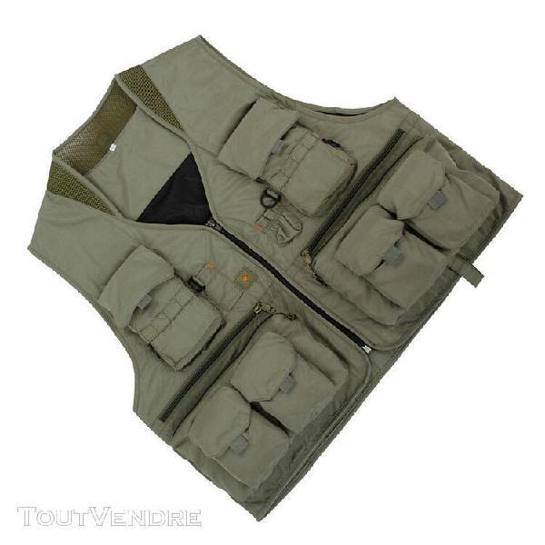 Multi pocket photographie outdoor chasse pêche vest jacket