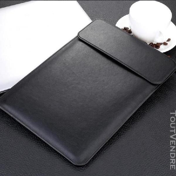 Noir housse de protection en cuir pu avec etui de porte-cray