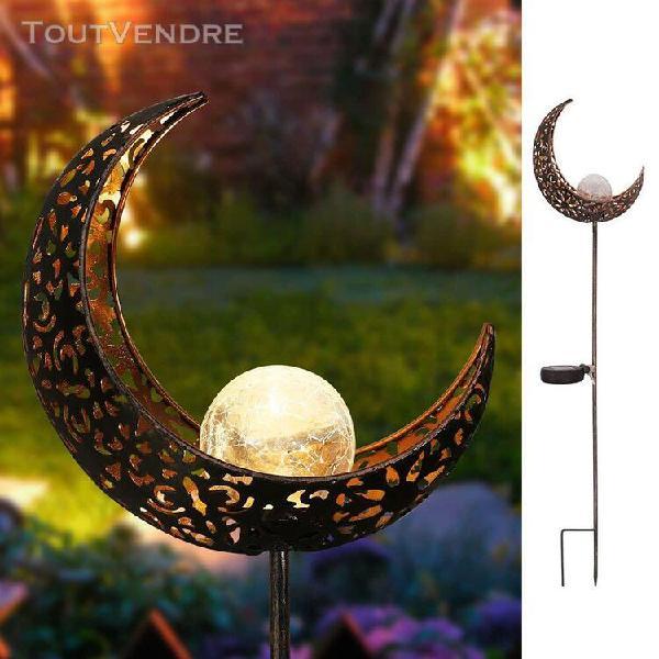 Panneau solaire lune motif ¿¿vid¿¿ lampe ¿¿ gazon