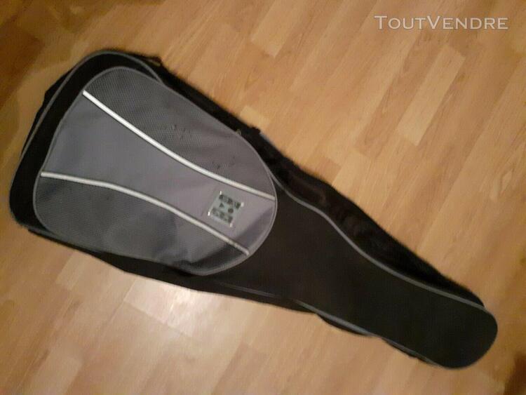 Guitare électrique noire gaucher + housse offerte
