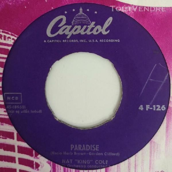 """45t 45 rpm 7"""" juke box soul oldies r&b nat king cole 4 f 126"""