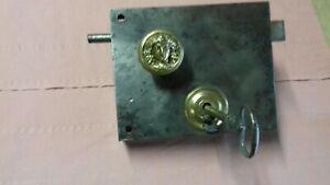Importante serrure bouton mascaron antique epoque xviii